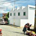 Rúa onde se ubica a ampliación do Centro de Saúde de San Xoan Ostuncalco