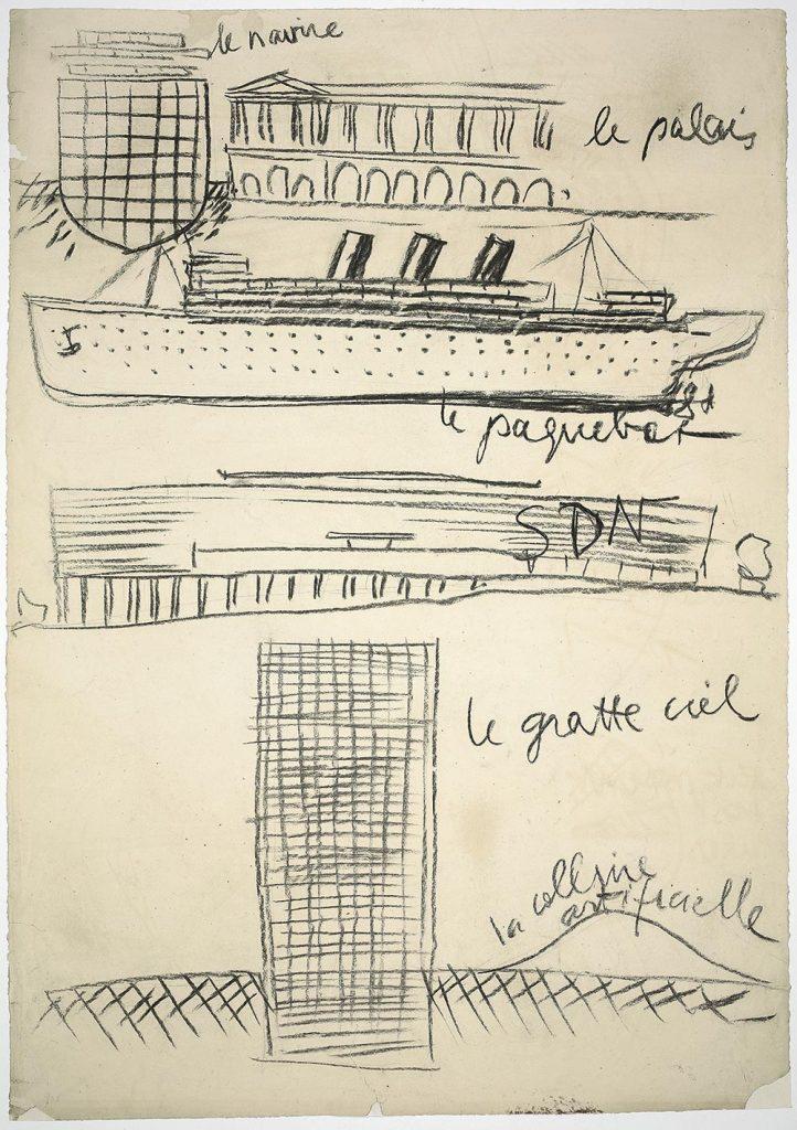 """Croquis de Le Corbusier recogidos en """"Le Corbusier. Ideas and Forms"""""""