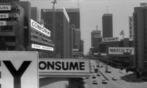 "Consumption and control in the public space. ""They live"" 