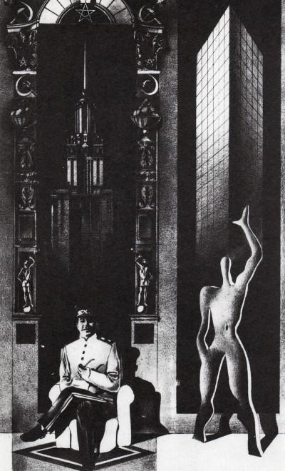 """M. Belov entrada para el concurso de A+U """"A Style for the Year 2001"""", 1984."""