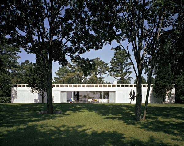 Travertine House, 1963, Gordon Bunshaft, Fotografía: Ezra Stoller