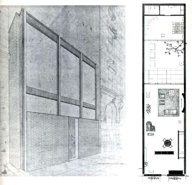 Entre medianeras-Rockefeller Guest House, Philip Johnson, 1950 o2