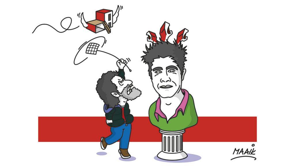 Caricatura de Fredy Massad realizada por ArchMaaik