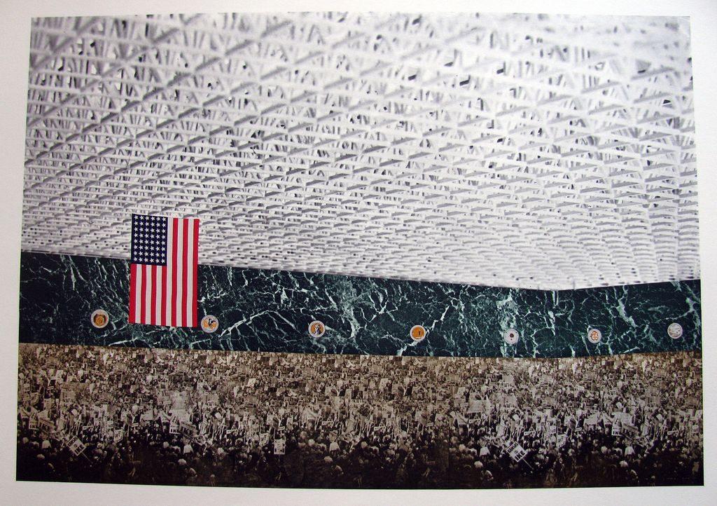 Fotomontaje, Mies van der Rohe, Convention Hall de Chicago, 1953-54 (MOMA)