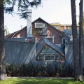 Architect Frank Gehry's house is a deconstructivist's reworking of a conventional suburban California house in Santa Monica, California. The house was 'reworked' in 1978 and has been remodeled in several phases over the decades. The house is a collision of parts, built to stay but left with a deliberate unfinished look.