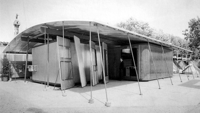 Jean Prouvé y Charlotte Perriand. Maison Saharienne, 1938