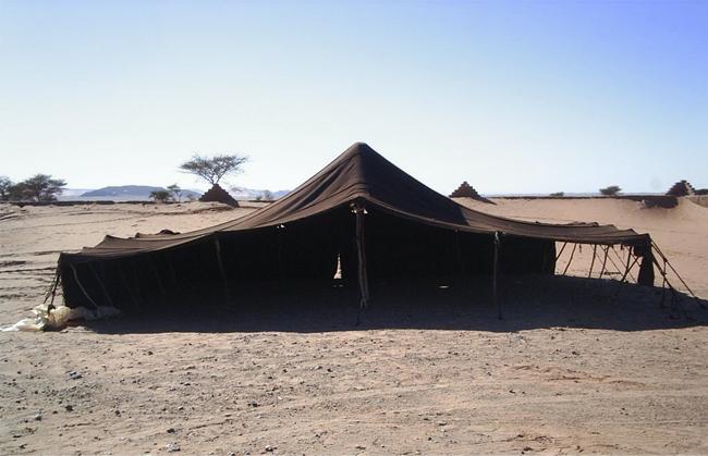 Jaimas tradicional del Sahara