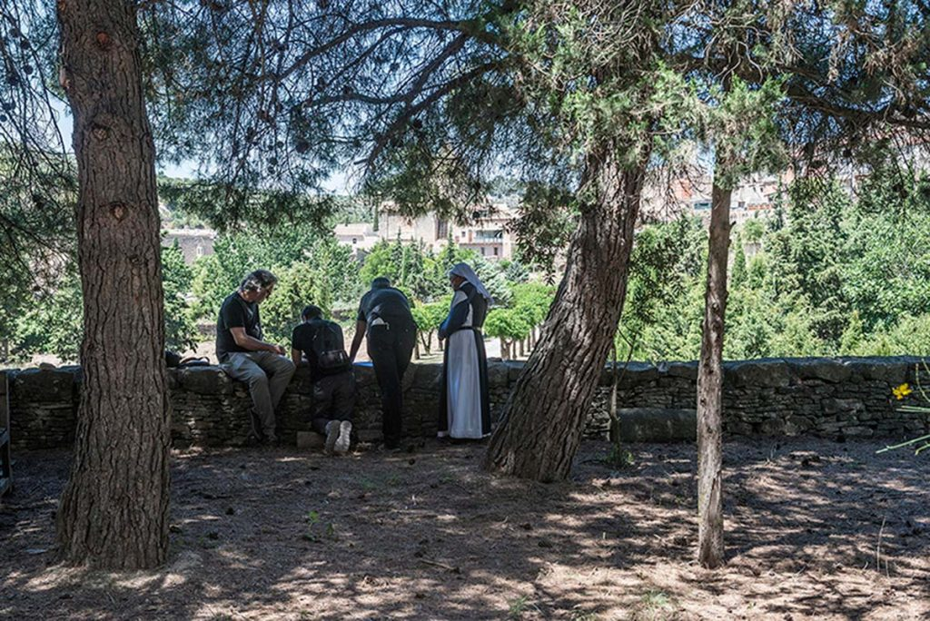 Jaume Prat, Igor Peraza, Rafael Aranda en Vallbona de les Monges | Fotografía: Pep Sau