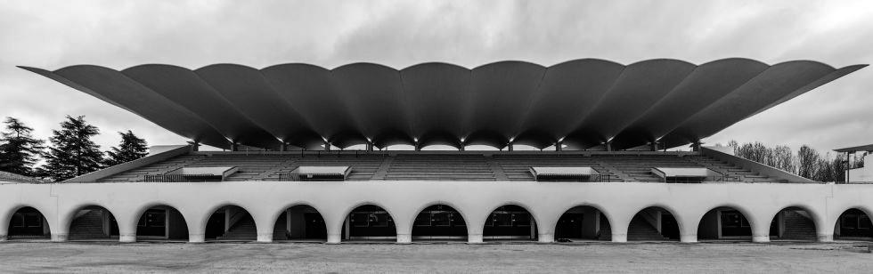 Hipódromo de la Zarzuela. Ing E. Torroja, año 1936. (En uso)   Fuente: Tus ciencias sociales