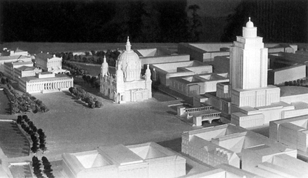Maqueta del proyecto de Richard Paulick para Alexanderplatz, 1951
