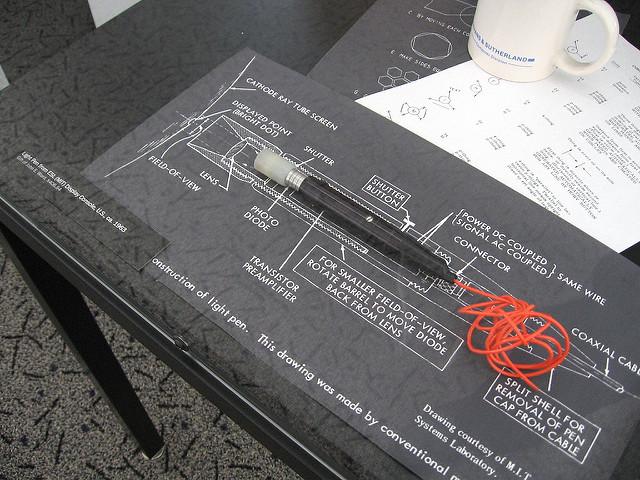 Light pen protype. c.a. 1963   Fuente: Marcin Wichary
