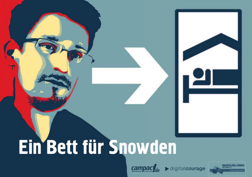 'Ein Bett für Snowden'