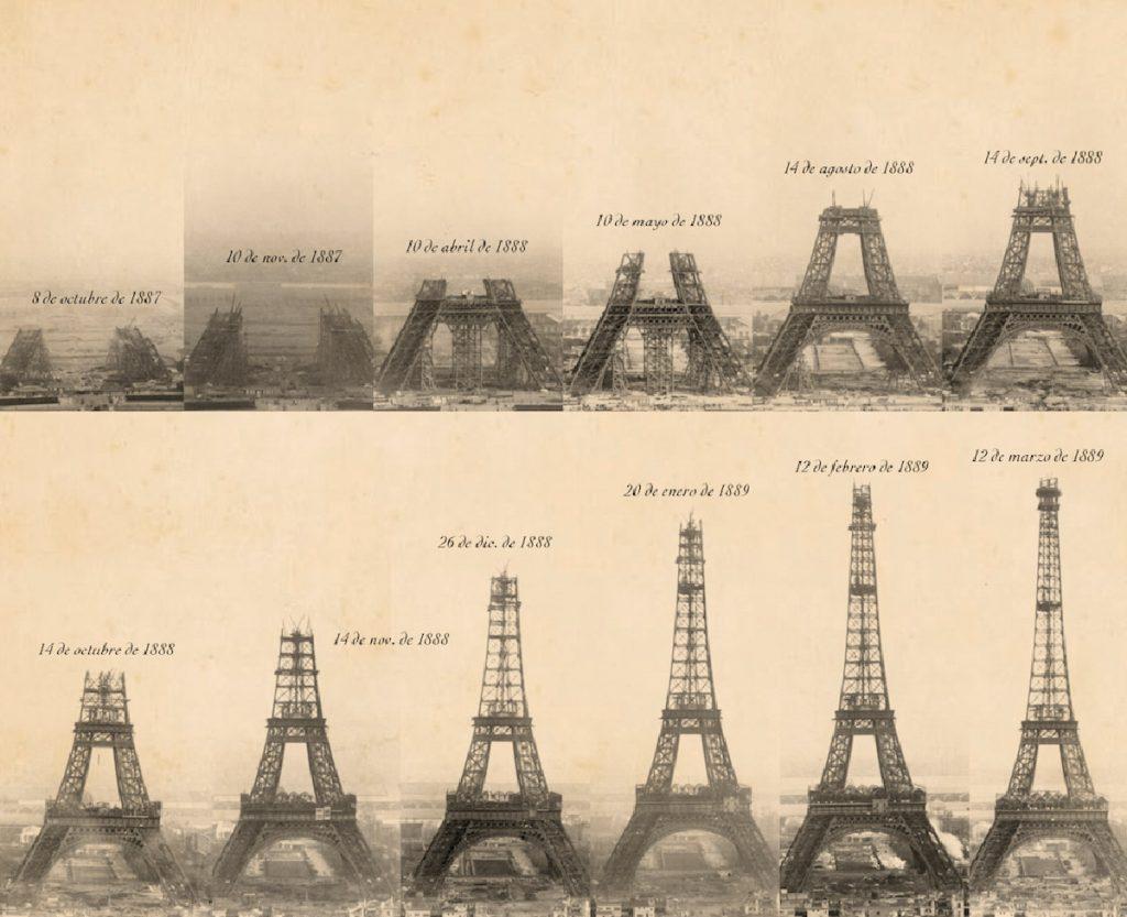 La torre Eiffel: la construcción de un coloso, febrero de 1888   Fuente: National Geographic