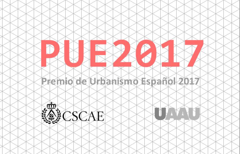 Premio de Urbanismo Español 2017 pue2017