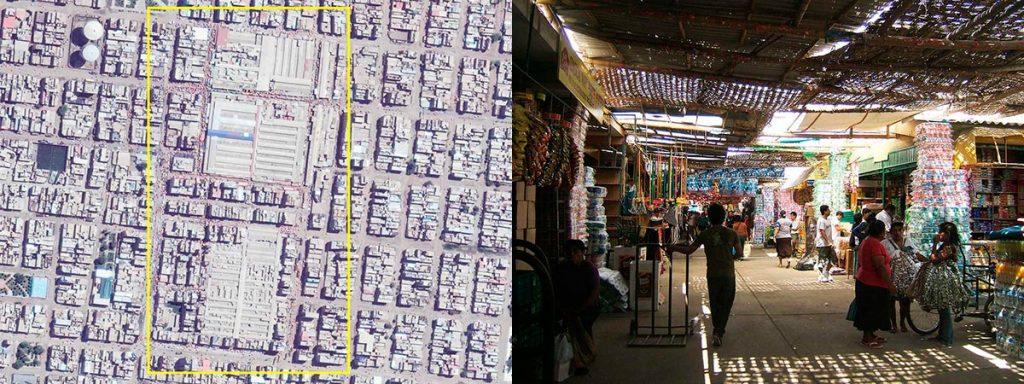 Mercado Moshoqueque. Foto: Google Earth 2017 | Mercado de Moshoqueque. Foto: Aldo Facho Dede 2011