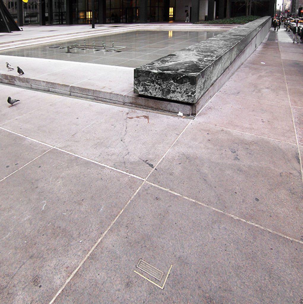 Plaza del Seagram Building en el 375 de Park Avenue. Mies van der Rohe
