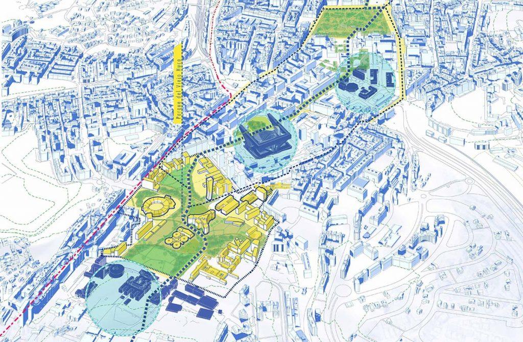 HUCA Oviedo, reordenacion y regeneración urbana