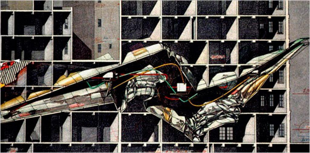 Berlin Free Zone, 1988 ©Lebbeus Woods