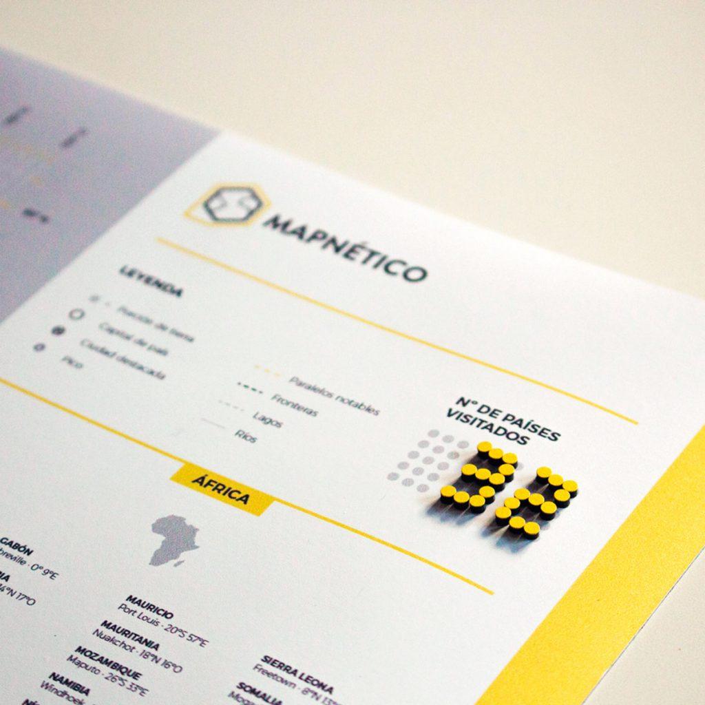 Mapnético incluye un contador de países visitados.