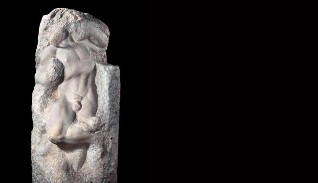 Esclavo Despertando(Mármol, 1519-1536)|Galleria dell'Accademia, Florencia