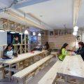 Cafetería del Hall de la Escuela de Arquitectura Universidad del BioBío República Portátil o14