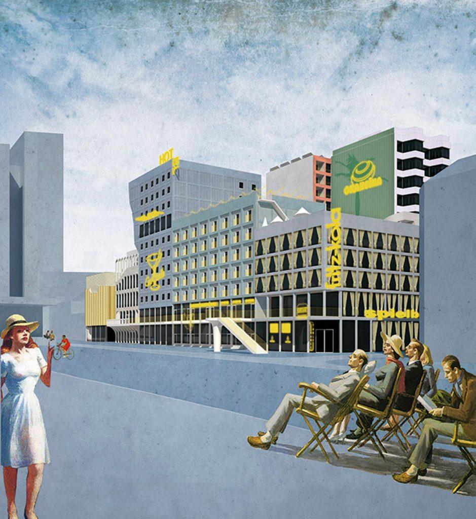 NLarchitects. Spielbudenplatz Urban Plan. BeL Sozietät für Architektur. St Pauli, Hamburg (Germany), 2015
