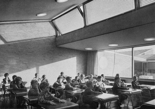 Escuela Munkegård de Arne Jacobsen, 1951.