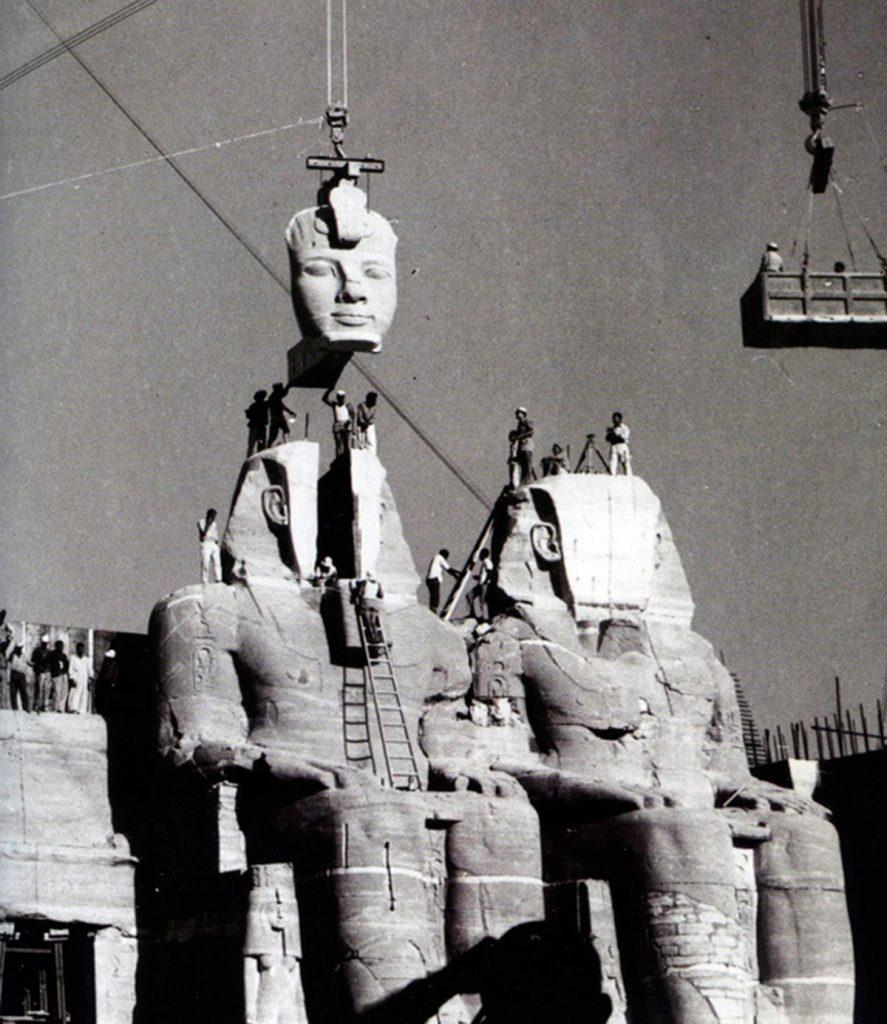 Ensamble de Abu Simbel en 1968