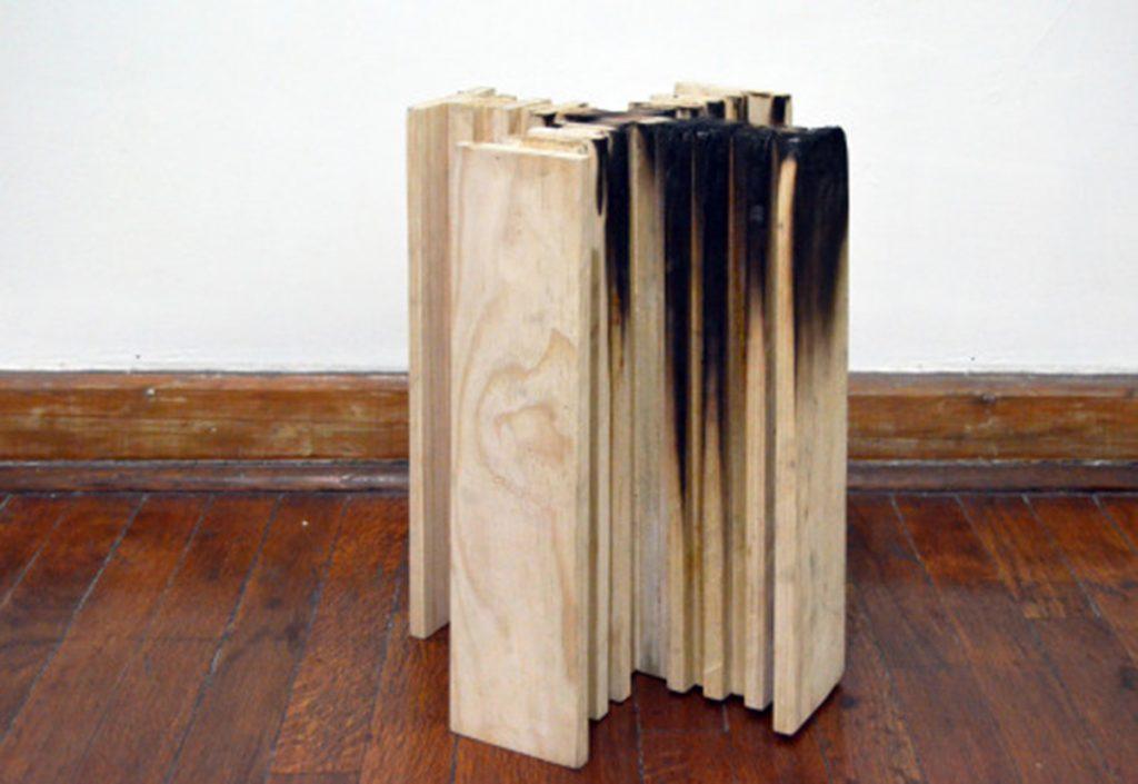 Maqueta de madera de la Ciudad radiante de Le Corbusier (E 1.500) 30x30x40 cm