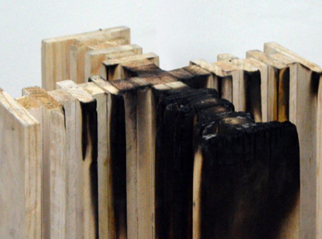 Maqueta de madera de la Ciudad radiante de Le Corbusier (E 1.500), 30x30x40 cm