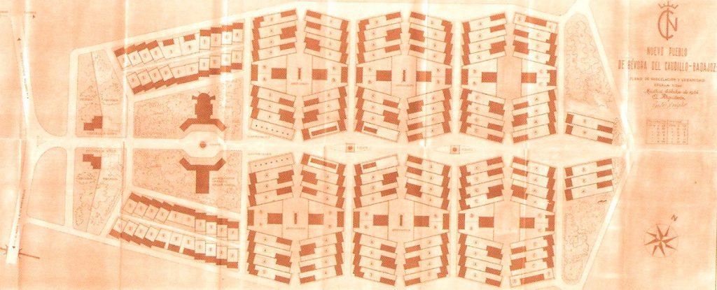 Gévora, plano de conjunto. Carlos Arniches, 1954|Fuente: Arniches y Domínguez: Museo ICO, del 4 de octubre de 2017 al 21 de enero de 2018. Catálogo de la Exposición (2017). Madrid: Fundación ICO.