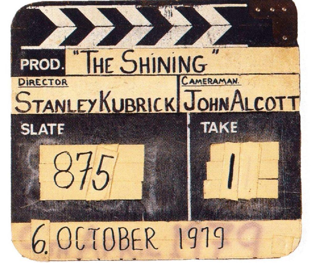 """Las """"claquetas"""" de Stanley Kubrick."""