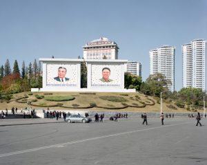 Maxime Delvaux: barrio de la colina Jangdae, Pyongyang, 2012.