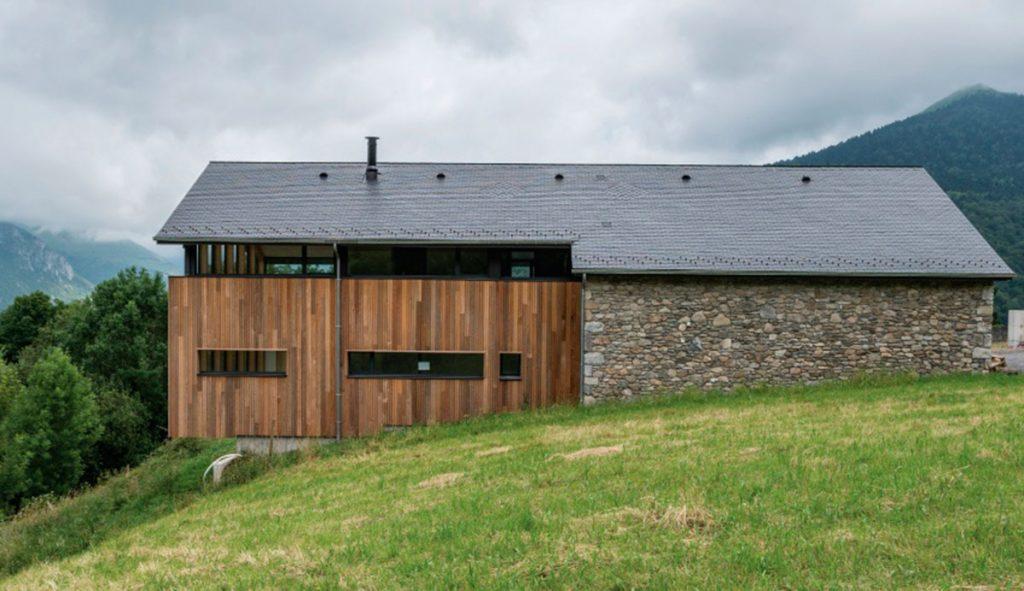 Vivienda familiar pirineos, Francia, Thermoslate | Fuente: cupapizarras.com