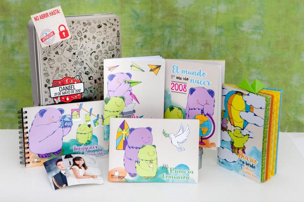 Cápsula del tiempo para niños y niñas Peque Retrobox Comunión.