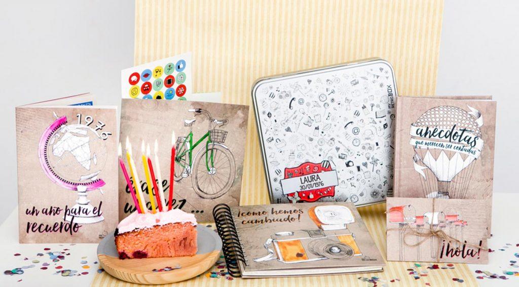 Cápsula del tiempo para cumpleaños de adultos Retrobox Cumpleaños Feliz.