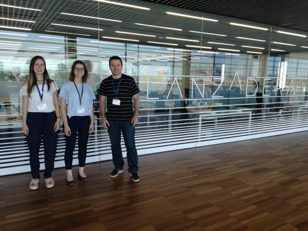 Equipo de MatMap, de izquierda a derecha: Milena, María y Marc