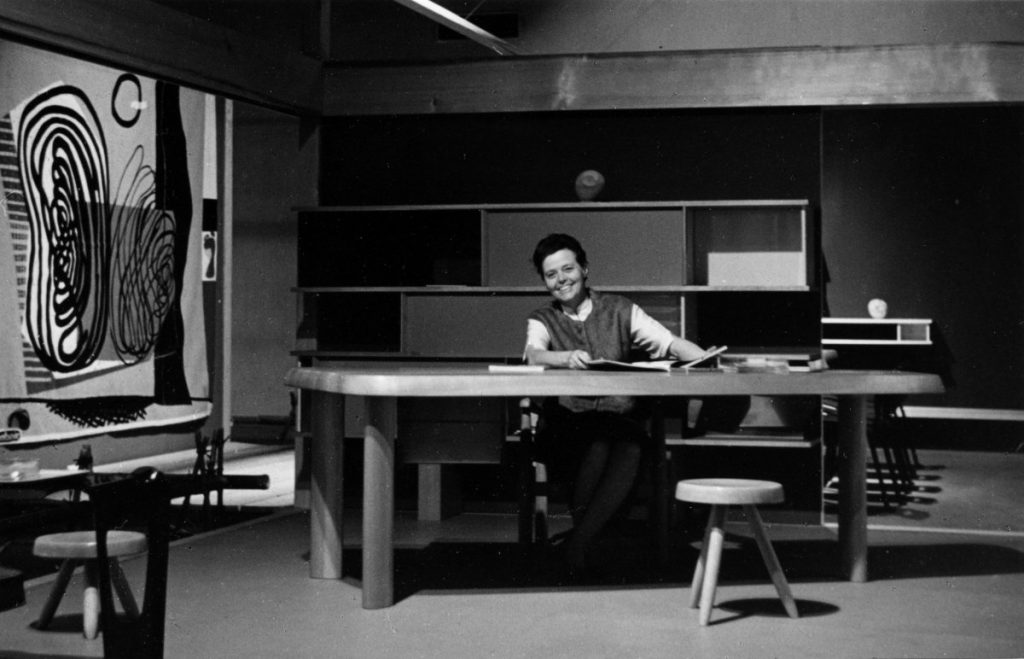 Charlotte Perriand at the Expo Synthèse des Arts Tokyo in 1955© AChP