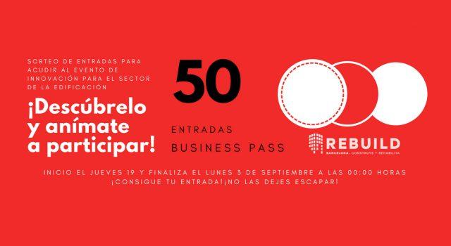 Sorteo de 50 entradas Business Pass para Rebuild