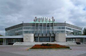 Circo de Omsk de 1969-1973. Arquitectos: A. Zakharov y AI Lunin Yumakaev