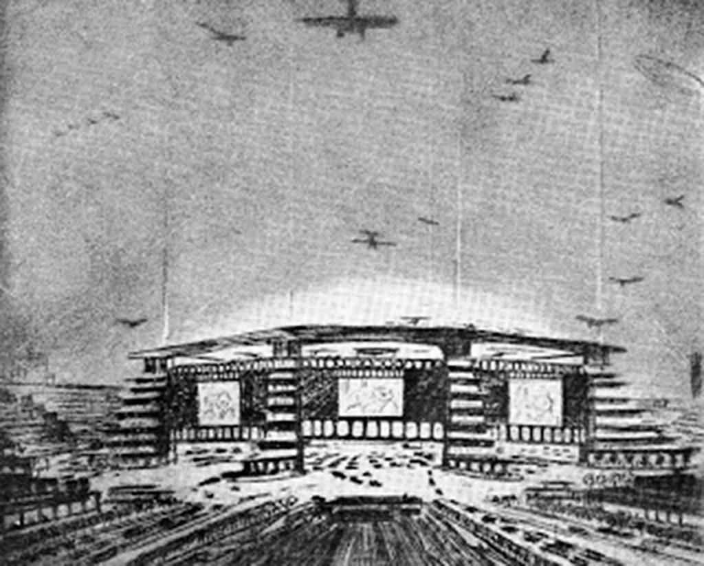 Cine Monumental. Dibujo de Casto Fernéndez-Shaw