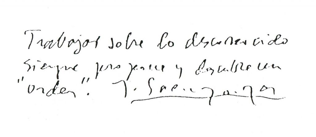 Cita de Fancisco Javier Sáenz de Oiza