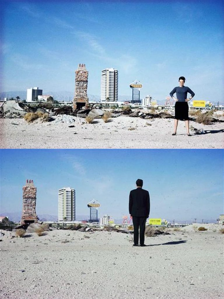 Denise Scott Brown & Robert Venturi in the Las Vegas desert, 1966