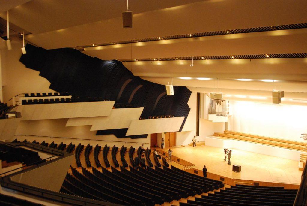 El interior del Finlandia Hall de Alvar Aalto | Fotografía: Óscar Tenreiro