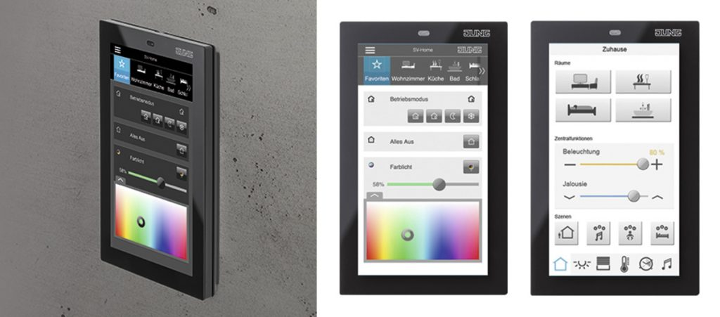 Nuevo panel Smart Control 5 de Jung para el control domótico en viviendas 2
