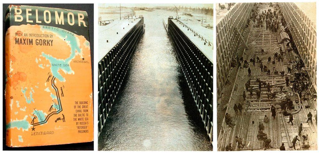 Libro Belomor. | A. Rodchenko: Colocación del suelo en la camera de la reclusa, 1933. | A. Rodchenko: Reclusa, 1933.