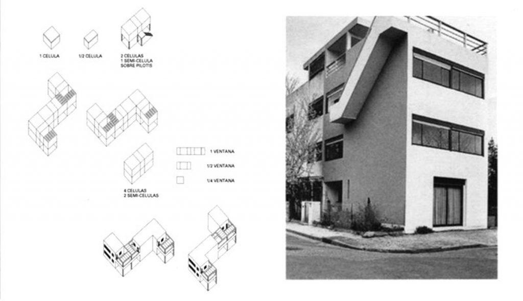 Quartiers Modernes Frugès. Le Corbusier. También de 1924