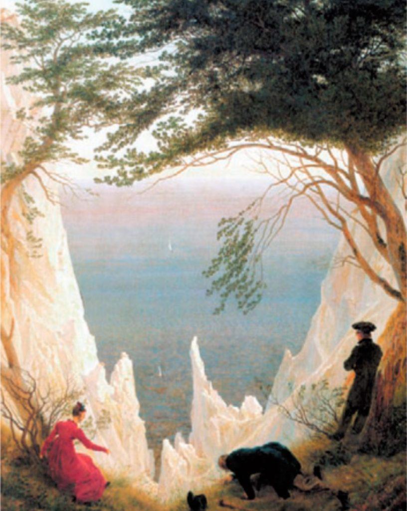 Caspar David Friedrich. Kreidefelsen auf Rügen. Óleo Sobre lienzo. 90,5x71,0 cm. Museum Oskar. Reinhart am Stadtgarten. Winterthur.