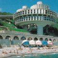 Sanatorio Druzhba en Yalta, Crimea. 1985. arquitectos I. Vasilevsky, Y. Stefanchuk, V. Divnov, L. Kesler