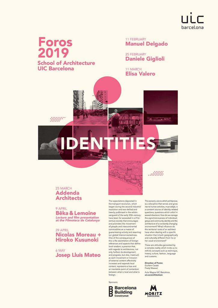 #Foros2019_UIC Barcelona School of Architecture